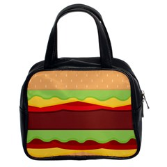 Cake Cute Burger Copy Classic Handbags (2 Sides)