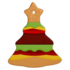 Cake Cute Burger Copy Ornament (Christmas Tree)