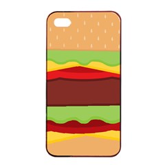 Cake Cute Burger Copy Apple iPhone 4/4s Seamless Case (Black)