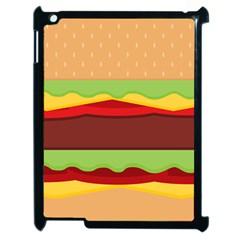 Cake Cute Burger Copy Apple iPad 2 Case (Black)