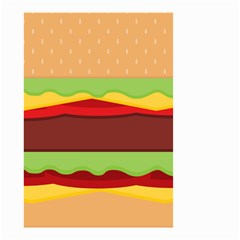 Cake Cute Burger Copy Small Garden Flag (Two Sides)