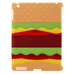 Cake Cute Burger Copy Apple iPad 3/4 Hardshell Case (Compatible with Smart Cover)