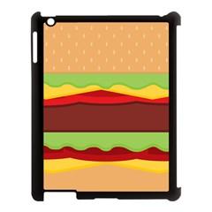 Cake Cute Burger Copy Apple iPad 3/4 Case (Black)