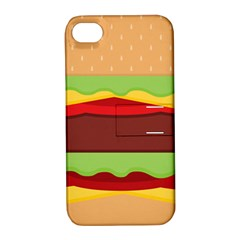 Cake Cute Burger Copy Apple iPhone 4/4S Hardshell Case with Stand