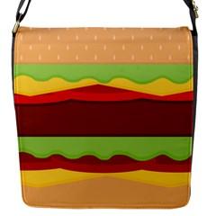 Cake Cute Burger Copy Flap Messenger Bag (S)