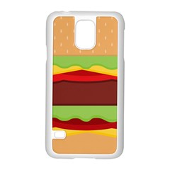 Cake Cute Burger Copy Samsung Galaxy S5 Case (White)