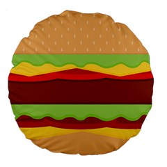 Cake Cute Burger Copy Large 18  Premium Flano Round Cushions