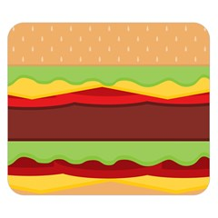 Cake Cute Burger Copy Double Sided Flano Blanket (Small)