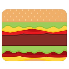 Cake Cute Burger Copy Double Sided Flano Blanket (Medium)
