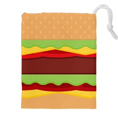 Cake Cute Burger Copy Drawstring Pouches (XXL)