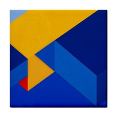 Box Yellow Blue Red Tile Coasters