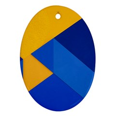 Box Yellow Blue Red Ornament (Oval)