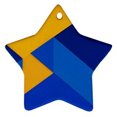 Box Yellow Blue Red Ornament (Star)