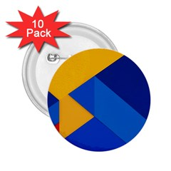 Box Yellow Blue Red 2.25  Buttons (10 pack)