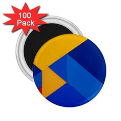 Box Yellow Blue Red 2.25  Magnets (100 pack)