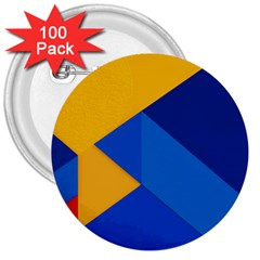 Box Yellow Blue Red 3  Buttons (100 pack)