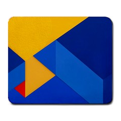 Box Yellow Blue Red Large Mousepads