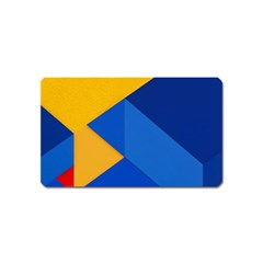 Box Yellow Blue Red Magnet (Name Card)