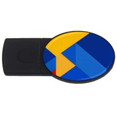Box Yellow Blue Red USB Flash Drive Oval (2 GB)
