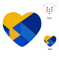 Box Yellow Blue Red Playing Cards (Heart)