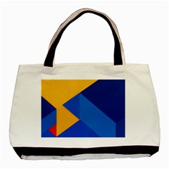 Box Yellow Blue Red Basic Tote Bag