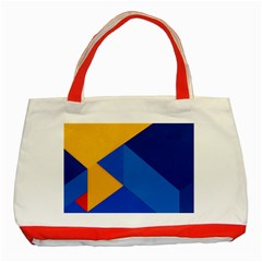 Box Yellow Blue Red Classic Tote Bag (Red)