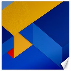 Box Yellow Blue Red Canvas 16  x 16