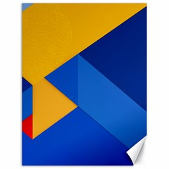 Box Yellow Blue Red Canvas 18  x 24