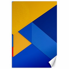 Box Yellow Blue Red Canvas 20  x 30