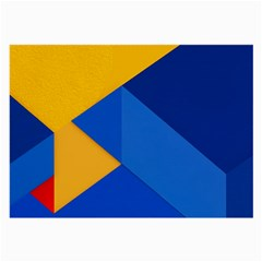 Box Yellow Blue Red Large Glasses Cloth (2-Side)