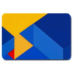 Box Yellow Blue Red Large Doormat