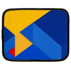 Box Yellow Blue Red Netbook Case (XXL)