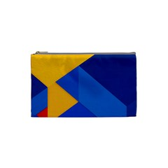 Box Yellow Blue Red Cosmetic Bag (Small)