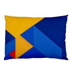 Box Yellow Blue Red Pillow Case (Two Sides)