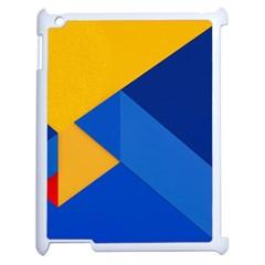 Box Yellow Blue Red Apple iPad 2 Case (White)