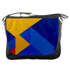 Box Yellow Blue Red Messenger Bags