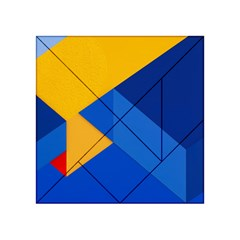 Box Yellow Blue Red Acrylic Tangram Puzzle (4  x 4 )
