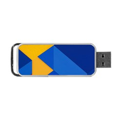 Box Yellow Blue Red Portable USB Flash (One Side)