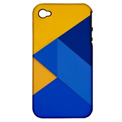 Box Yellow Blue Red Apple iPhone 4/4S Hardshell Case (PC+Silicone)