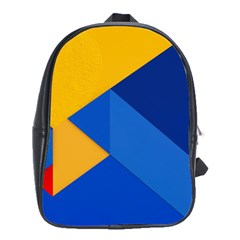 Box Yellow Blue Red School Bags (XL)