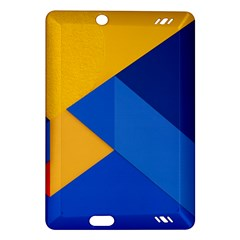 Box Yellow Blue Red Amazon Kindle Fire HD (2013) Hardshell Case