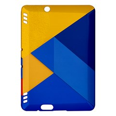 Box Yellow Blue Red Kindle Fire HDX Hardshell Case