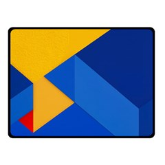 Box Yellow Blue Red Double Sided Fleece Blanket (Small)