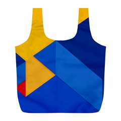 Box Yellow Blue Red Full Print Recycle Bags (L)