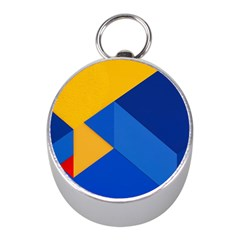 Box Yellow Blue Red Mini Silver Compasses