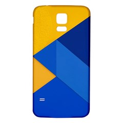 Box Yellow Blue Red Samsung Galaxy S5 Back Case (White)