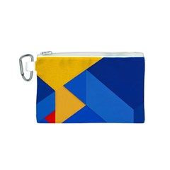 Box Yellow Blue Red Canvas Cosmetic Bag (S)