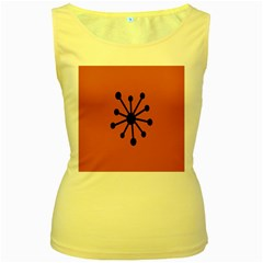 Centralized Garbage Flow Women s Yellow Tank Top