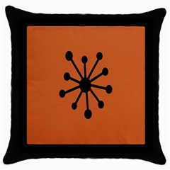 Centralized Garbage Flow Throw Pillow Case (Black)