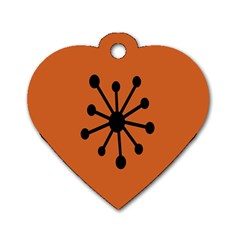 Centralized Garbage Flow Dog Tag Heart (One Side)